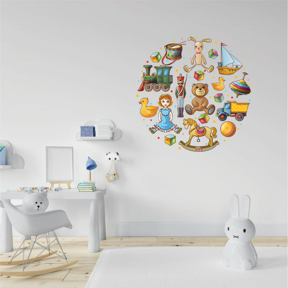 Toys Printed Vinyl Wall Art