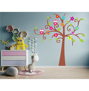 Tree Filled With Owls Vinyl Wall Art