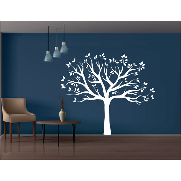 Tree With Leaves Vinyl Wall Art