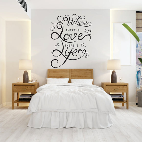 Where There Is Love Vinyl Wall Art
