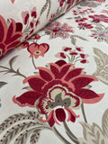 Cotton Twill Prints - Red Orchids