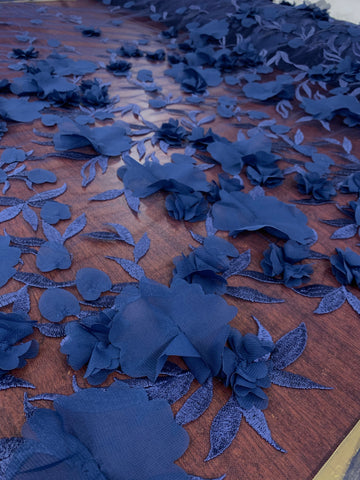 3D Flower Couture - Navy Blue