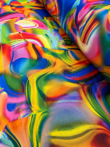 Satin Silk Stretch Digital - Psychedelic 03