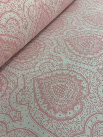 Cotton Twill Prints - Afro Damask Pink