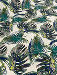 Cotton Twill Prints - Monster Leaf Winter