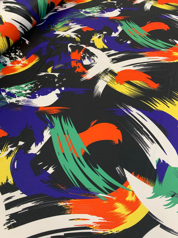 Dutchess Satin Printed - Abstract 01