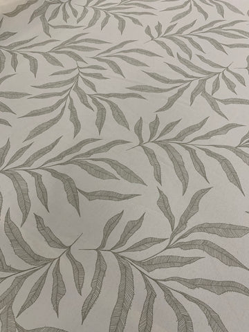 Cotton Twill Prints - leaf Silver