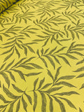 Cotton Twill Prints - leaf Lime