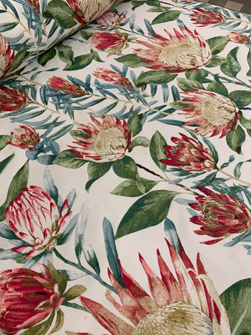 Cotton Twill Prints - Pink Protea