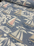 Cotton Twill Prints - Sailboats