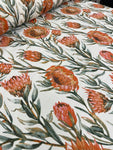 Cotton Twill Prints - Protea Flower Orange