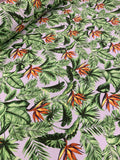 Cotton Twill Prints - Strelizia Beige