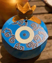 Load image into Gallery viewer, Pomegranates Blue Rustic