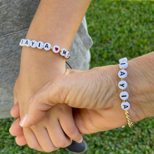Load image into Gallery viewer, Yiayia and Me Bracelet Set