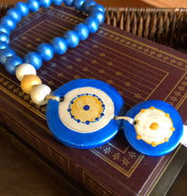Load image into Gallery viewer, Gouria-Hellenic Blue Round Mati (Evil Eye)