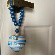 Load image into Gallery viewer, Hellenic Hearts Greek Flag Commemorative Heart