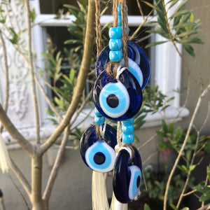 Glass Hanging Evil Eye