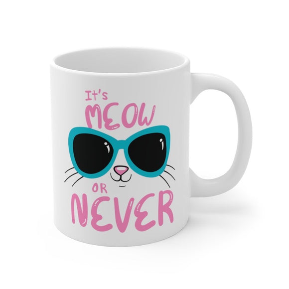 Meow Town Special Print  Meow Or Never!  Made only for You in the UK, current delivery time for this product is ~6-10 working days  Double sided print