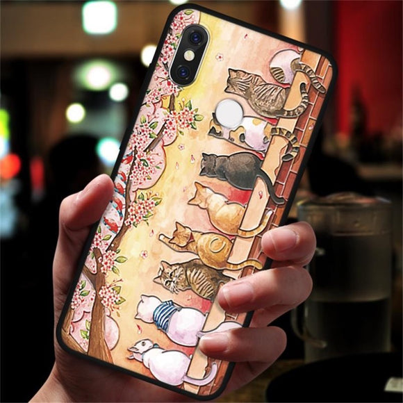 sunset samsung case cats sitting on a brick wall under cherry tree for cat lovers