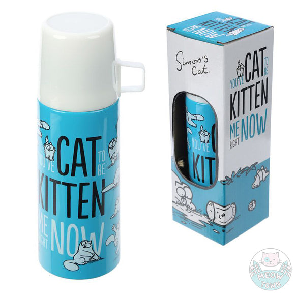 A cool Simon's Cat flask with