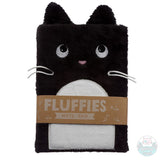 Tuxedo cat notebook notepad bicolor stationery adult kids fluffies fluffy plush