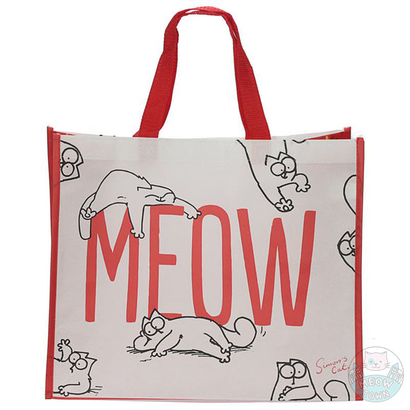 A lovely Simon's Cat bag, just perfect for your everyday shopping  Cool Simon's Cat graphics and Meow slogan