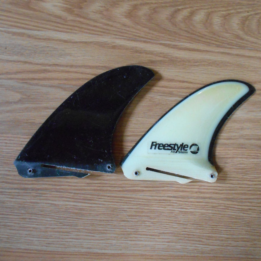 Freestyle Fin Systems Black/White Side Fin Set