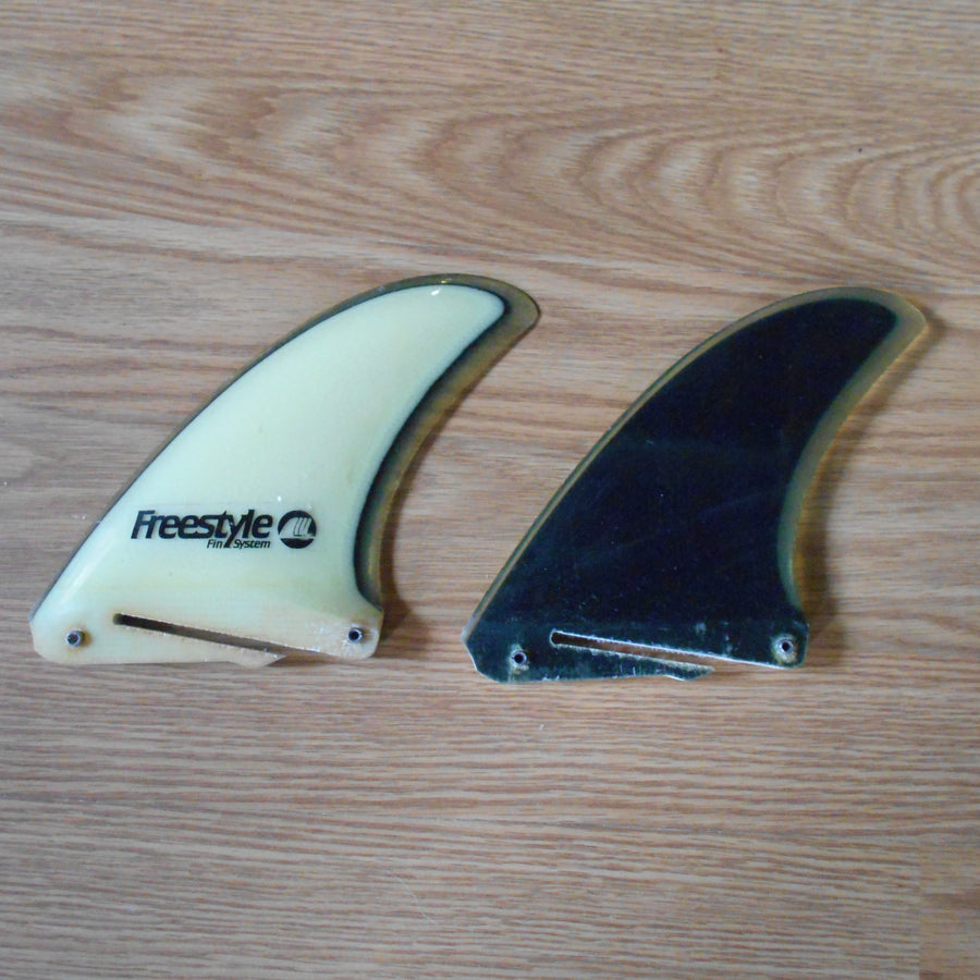 Freestyle Fin Systems Black/White/Clear Side Fin Set