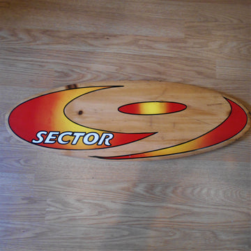 Vintage Sector 9 Wood Sign