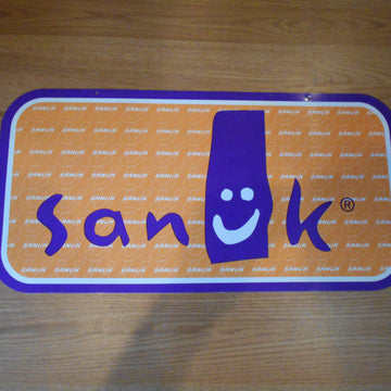 Sanuk Sandals Vintage 2-sided sign.