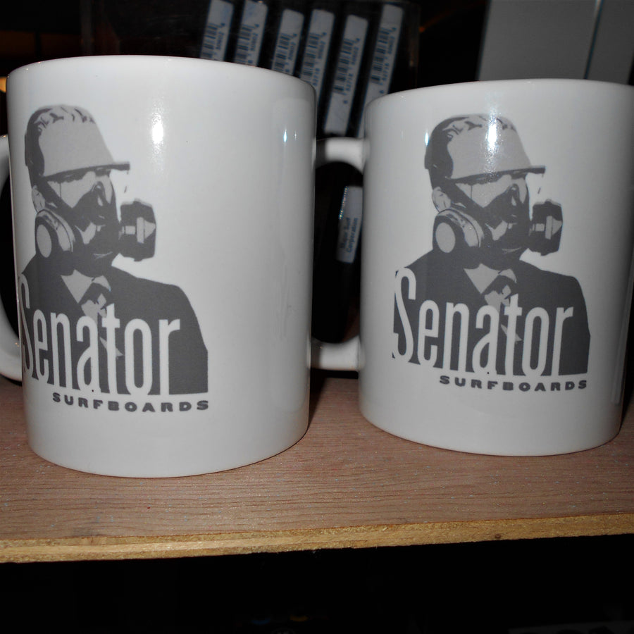 Senator Surfboards Respirator Man by Fulbright Mug Set