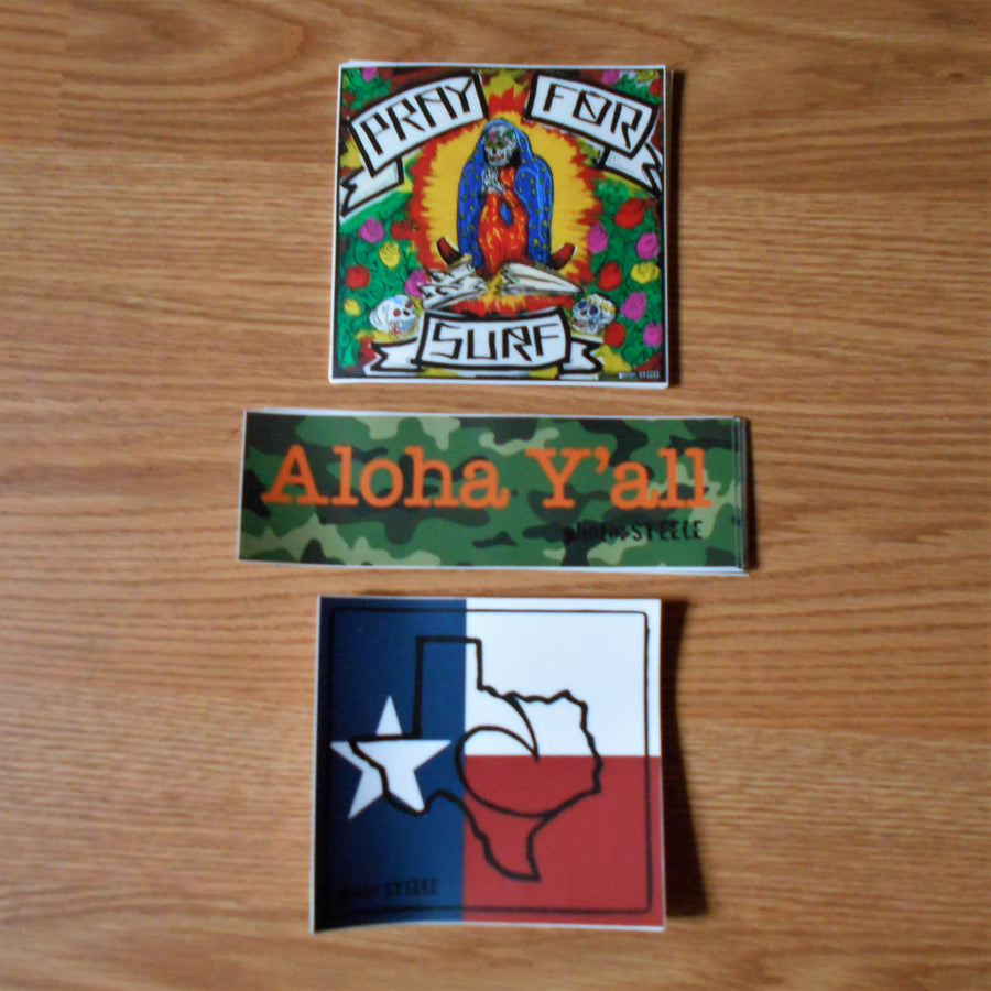 Aloha Y'all Sticker Pack #2
