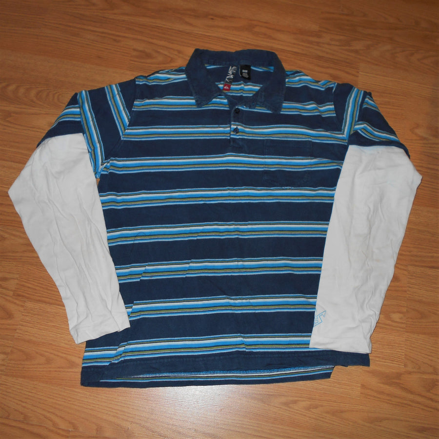 Quiksilver Vintage Mock Two Shirt Long Sleeve Knit