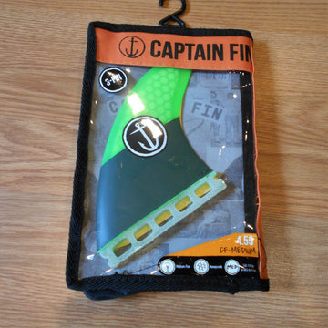 Captain Fin 4.55 CF-Medium Tri Fin Set
