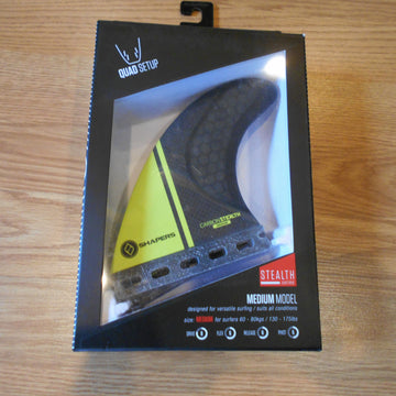 Shapers Quad Stealth Series Medium Fins