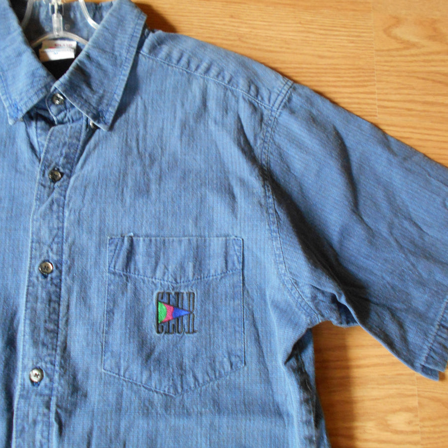 Vintage Club Sportswear Collared Button Up Woven