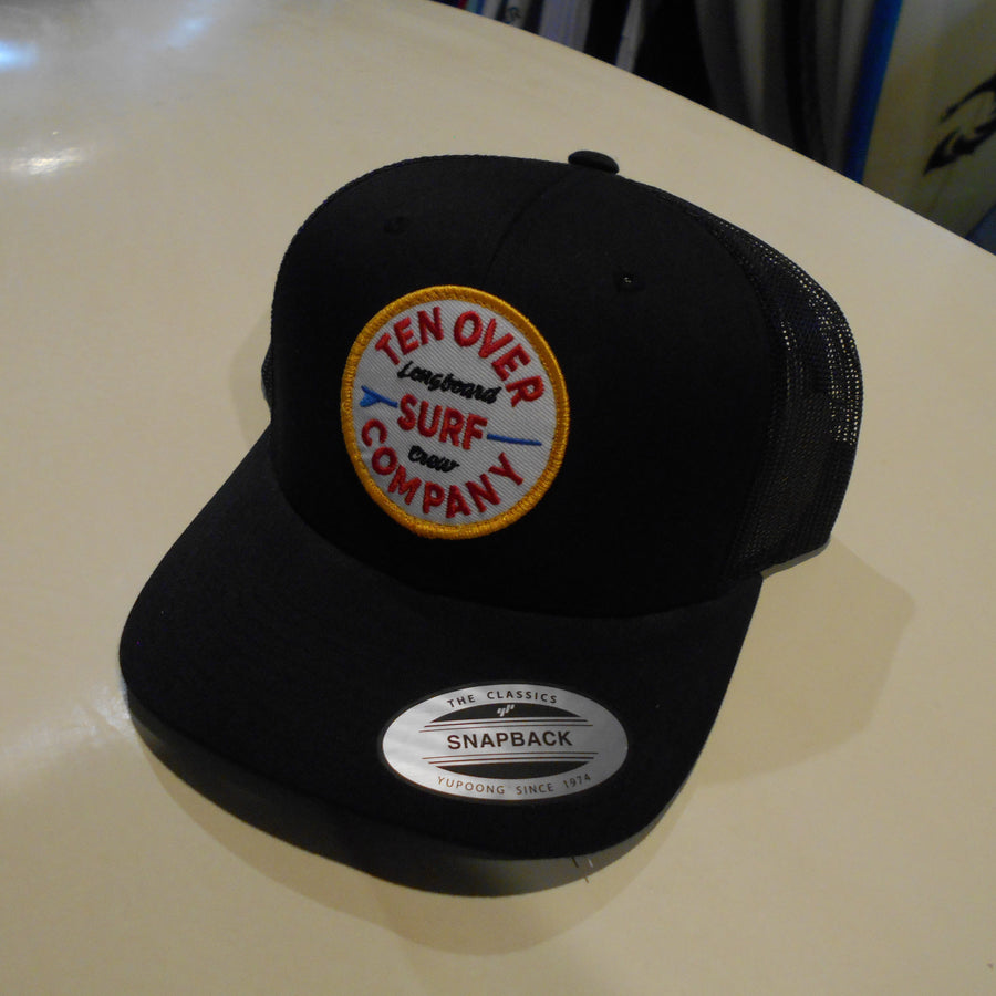 Ten Over Longboard Crew Blk/Blk Hat