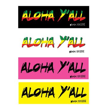 Aloha Y'all Sticker Pack