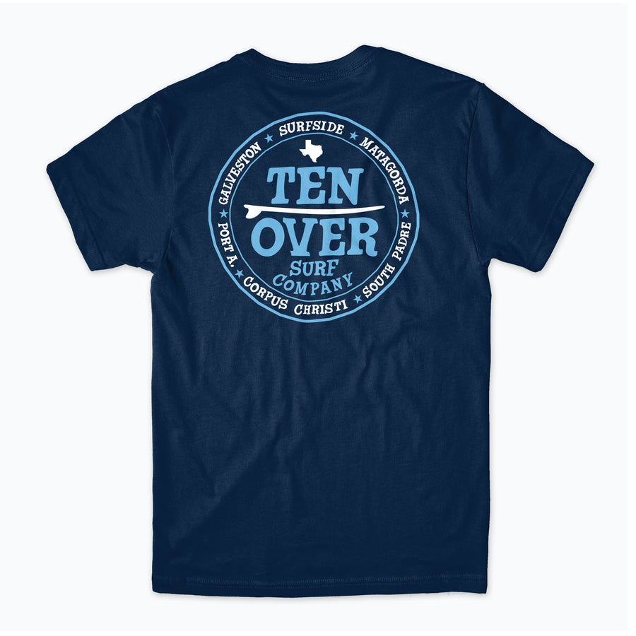 Ten Over Surf Texas Tee