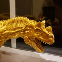 Load image into Gallery viewer, Silk Gold Ceratosaurus Model