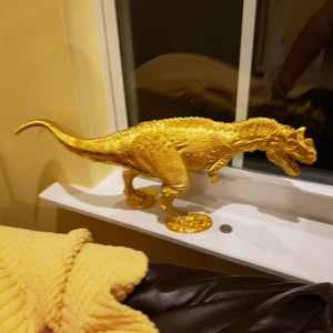 Silk Gold Ceratosaurus Model