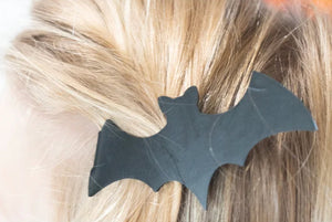 Bat Barrette for Halloween (pair)