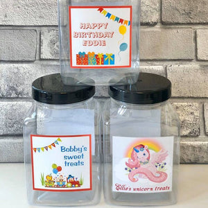 Personalised Sweet Jar Hamper - Happy Birthday Boy