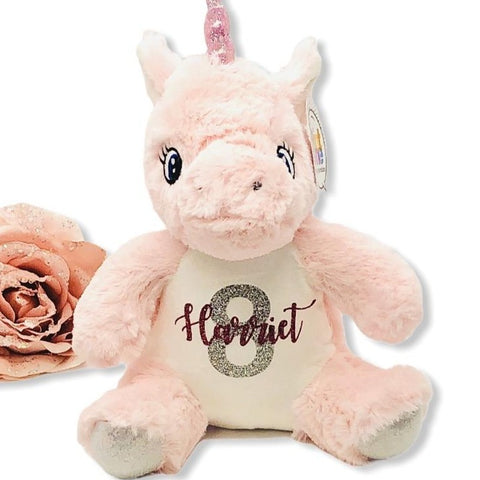 Personalised Small Unicorn Teddy