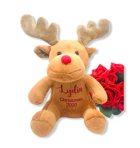 Personalised Christmas Small Reindeer Teddy