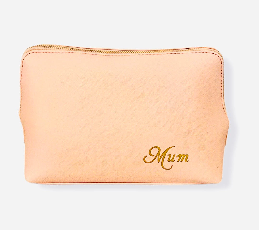 Personalised Large Pink Leather Look Bag With Initials