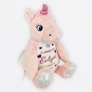 Personalised Wedding Party Proposal Large Unicorn Teddy