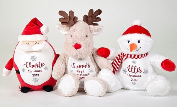 Personalised First Christmas Reindeer Teddy