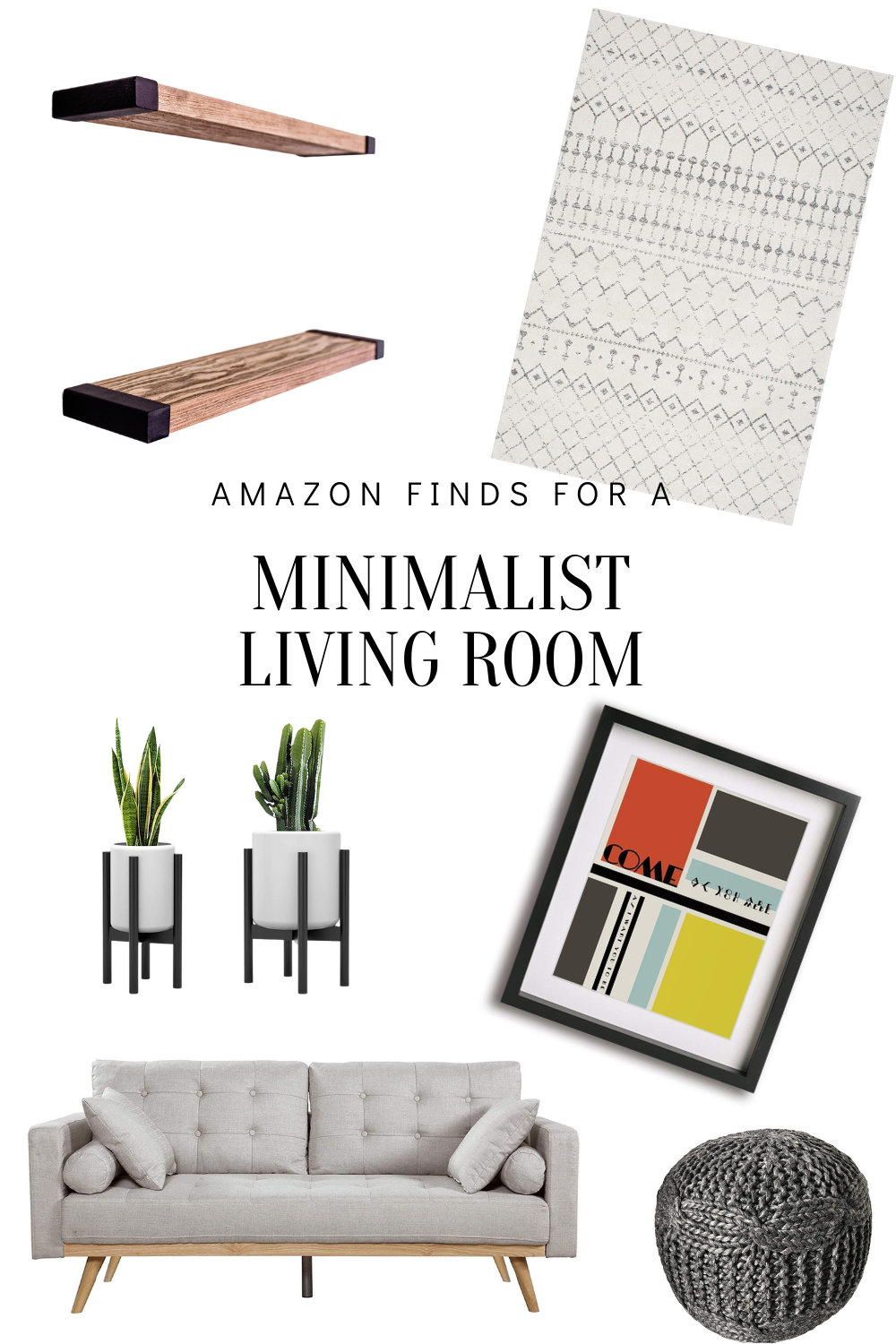 Creating A Minimalist Living Room Under $600