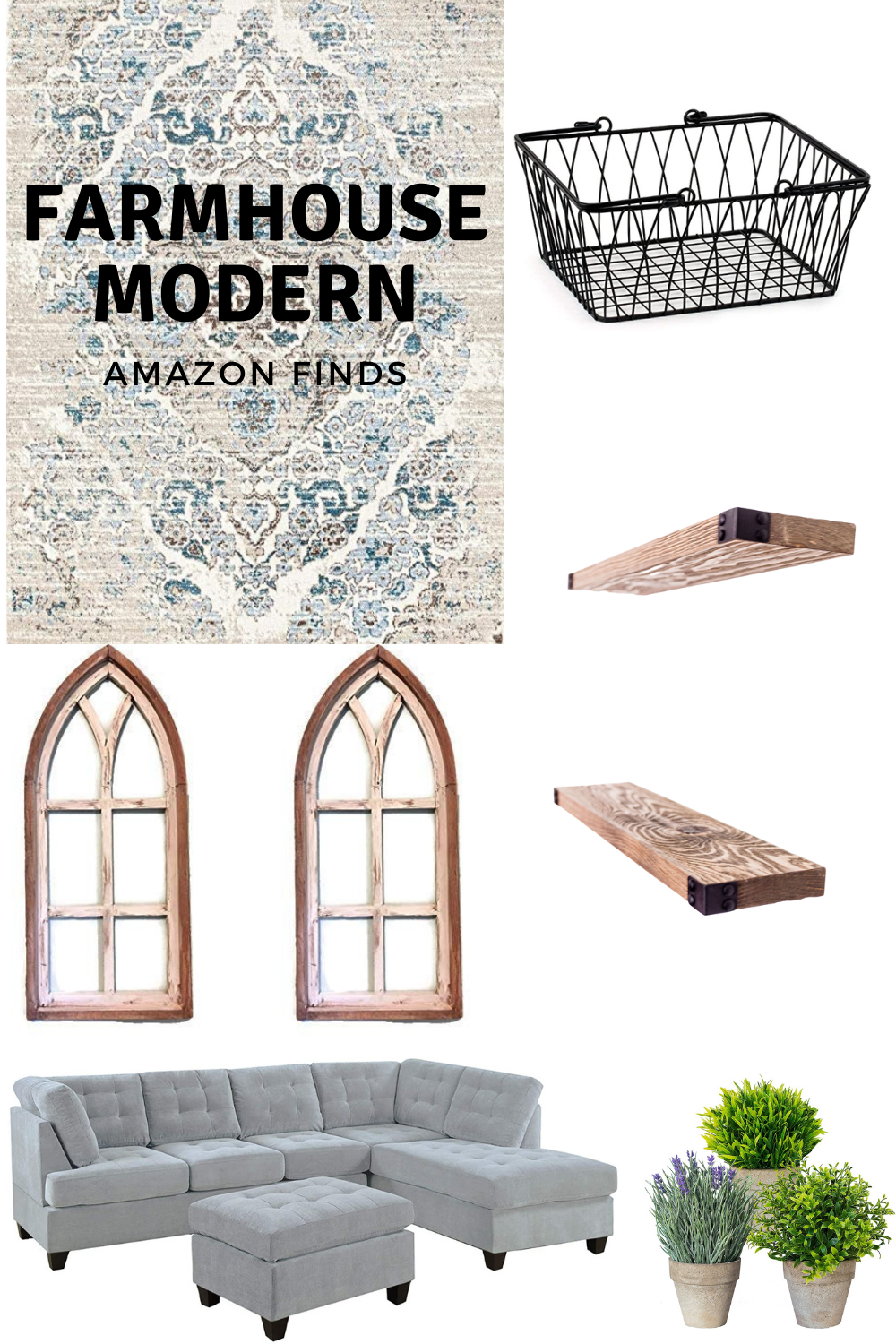 How To Create A Farmhouse Modern Living Room On Amazon